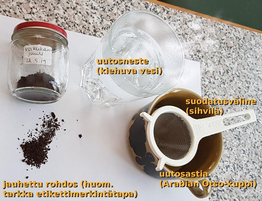 Voikukka kahvinkorvikkeena