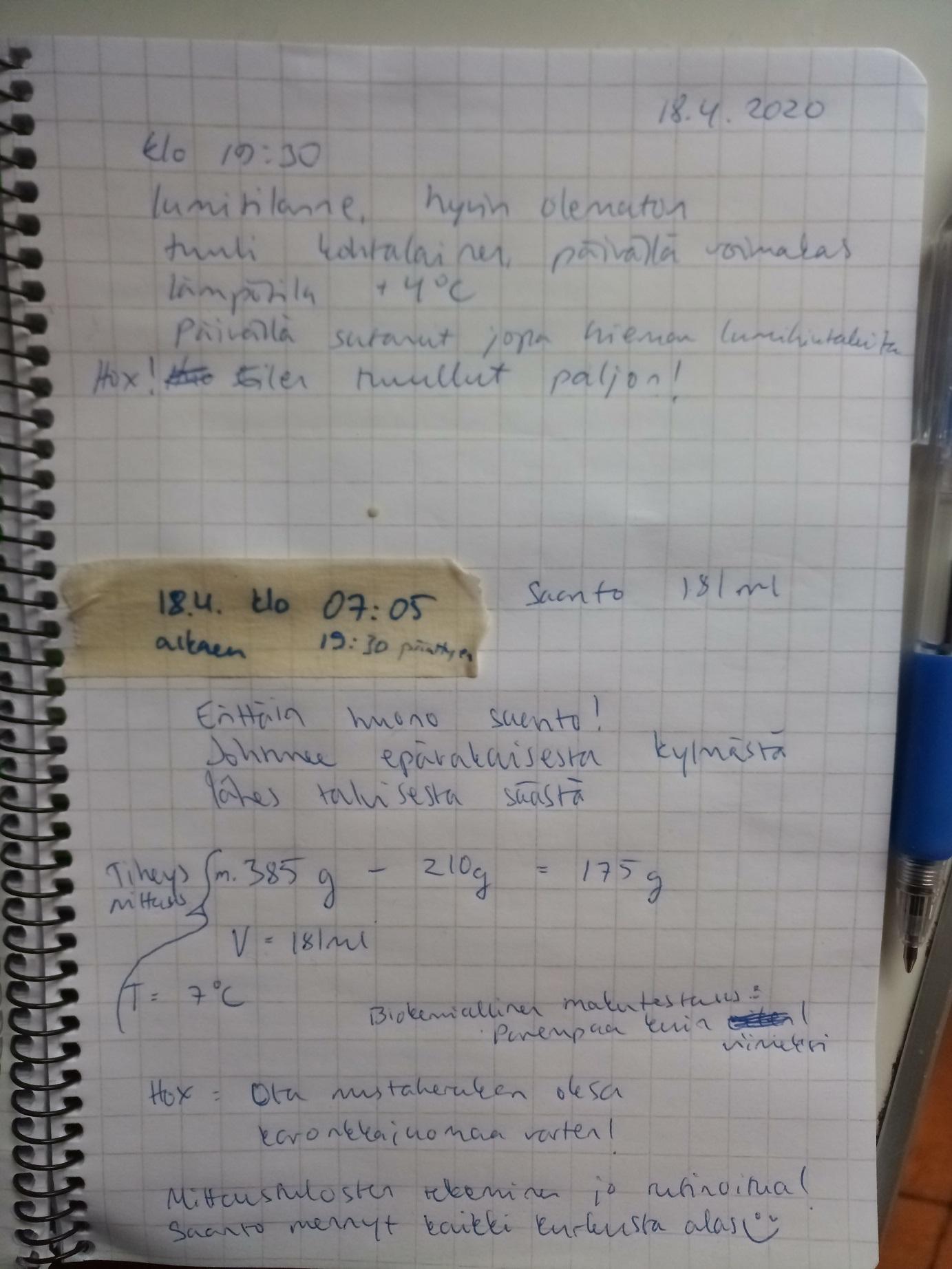 Laboratoriopäiväkirja