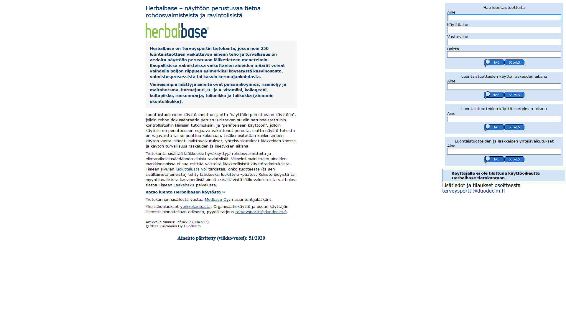 HerbalBase-ruutukuva